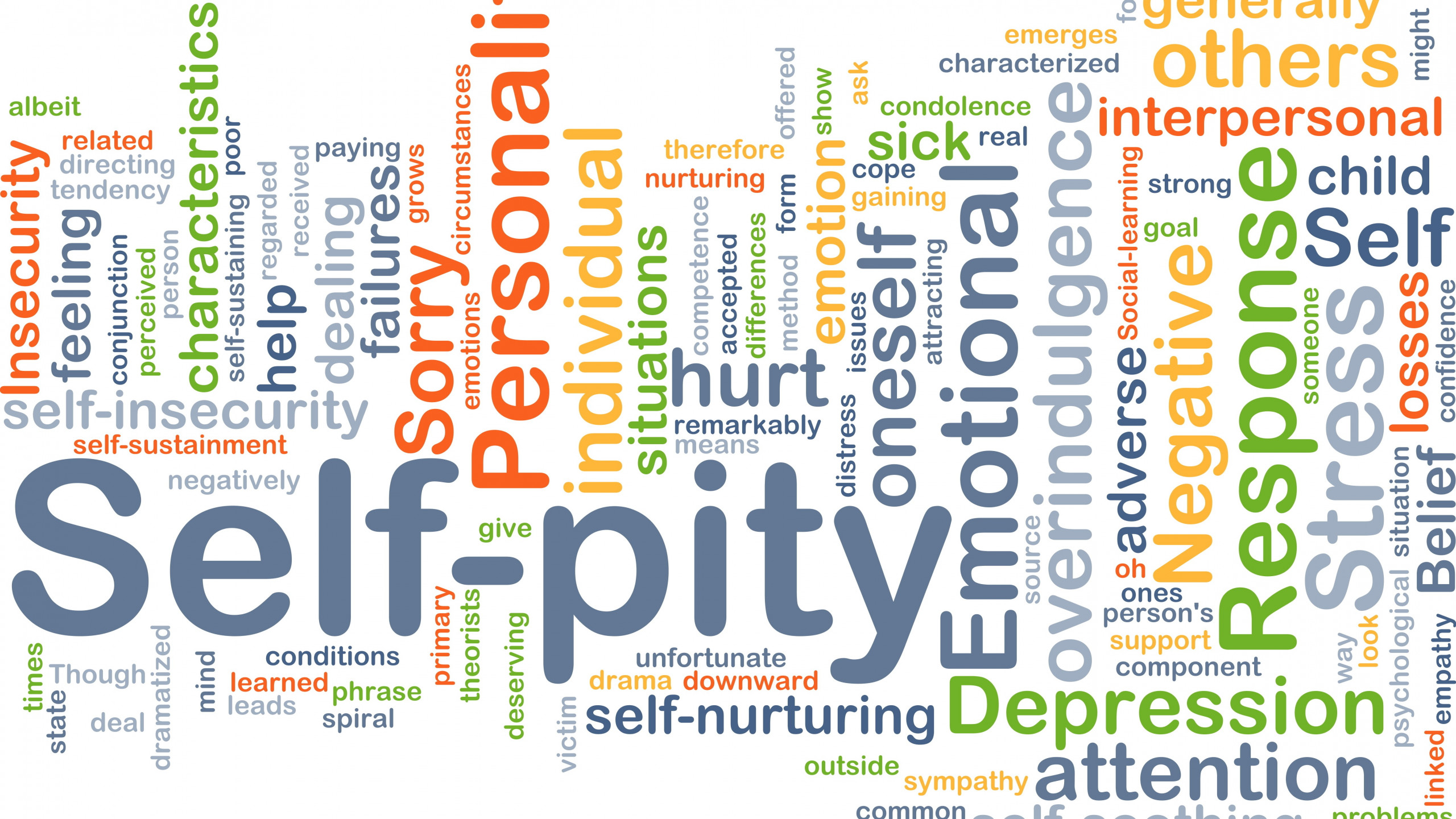 self-pity versus Depression